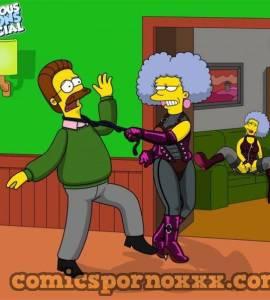 Hentai Porno - Patty y Selma Bouvier Violan a Ned Flanders - los-simpson, imagenes-porno