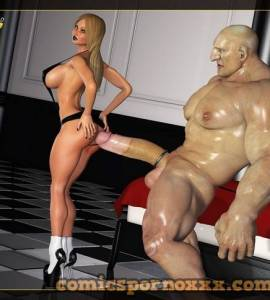Hentai Porno - The Blonde and The Giant - porno-3d