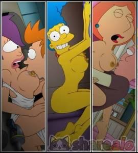 Hentai Porno - Imágenes Pornográficas de Los Simpson y Futurama (Cartoon Avenger) - los-simpson, imagenes-porno, futurama