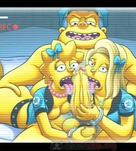 Hentai Porno - Jefe Gorgory Folla a Lisa Simpson y Alex Whitney (Las Reclutas) - los-simpson