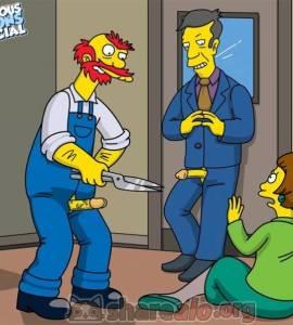 El Jardinero Willie y Skinner Follando a Edna Krabappel ...