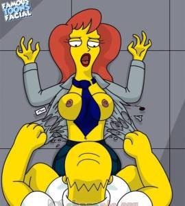 Hentai Porno - Homero Simpson Follando con su Asistente Margo - imagenes-porno