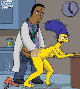 Hentai Porno - Dr. Hibbert Tiene Sexo con Marge Simpson en el Consultorio - imagenes-porno